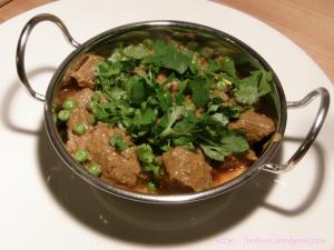 Khoya Mutter Gosht – Cremiges Lammfleisch mit Erbsen