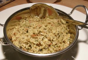 Methi ke Chawal – Reis mit Bockshornkleeblättern