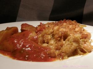 Kotopoulo me lahano toursi ke revithia – griechisches Huhn mit Kichererbsen und Sauerkraut