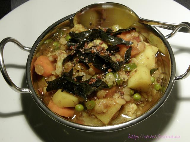 Kholamba - Hülsenfrüchte-Gemüse-Curry