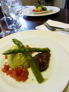 Kochtreffen – Lackierte Taubenbrust mit Spargelmousse