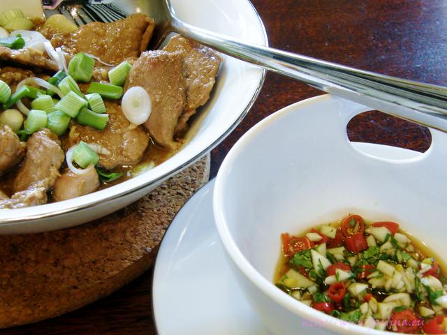 Muh Phad Gratiam Prik Thai - Schweinefleisch mit Knoblauch und Pfeffer