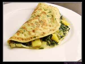 Mangold-Safran-Omelett
