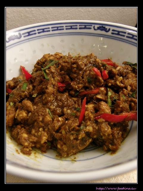 Khua Kling Moo - Gebratenes Kullerschweinefleisch