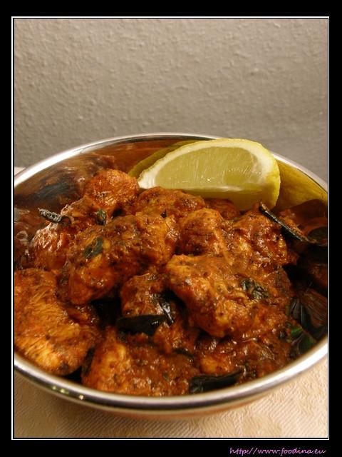 Fiery Chicken Roast - scharfes Hähnchencurry aus Indien
