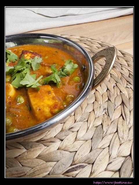 Mattar Paneer - Erbsen-Curry mit Käse
