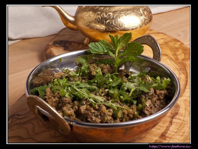 Bhuna Keema - würziges Lammcurry mit Zwiebeln