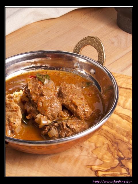 Pork Vindaloo - scharfes Curry mit Schweinfleisch