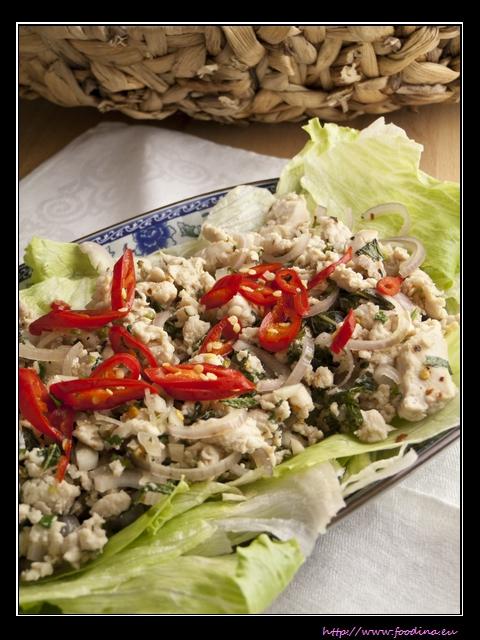 Thailändischer Hühnersalat - Larp Gai