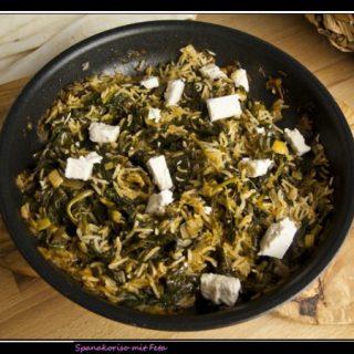 Spanakoriso - Reisgericht mit Feta und Spinat