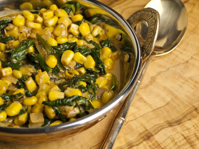 Palak Makai Malai - Spinat mit Mais in sahniger Sauce