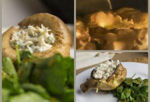Wasserkresse-Salat mit Yorkshire Pudding und Räucherforellencreme