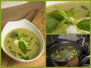 Zucchinisuppe mit Minze nach Jamie Oliver