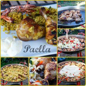 Julia kocht: Paella de verduras y pollo