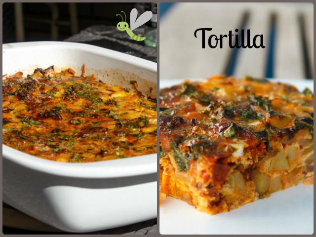 Tortilla Española con acelgas y chorizo