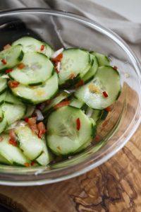Atjar Ketimun – indonesischer Gurkensalat