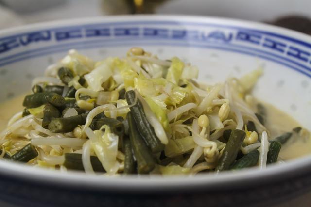 Sayur Oelih - Gemüse in Kokosmilch