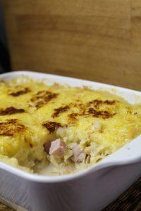 Sauerkraut-Kassler-Pie mit weissen Bohnen