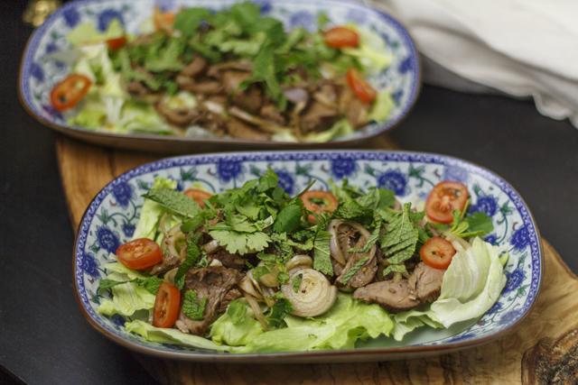 Thailändischer Rindfleischsalat - Yam Nuea