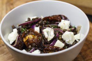 [genussvoll vegetarisch] Linsen mit Tomaten und Gorgonzola