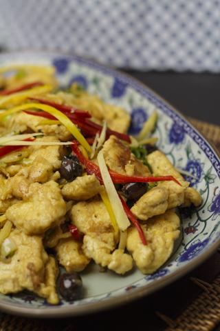 [chinesisch] Huhn mit Baby-Oliven