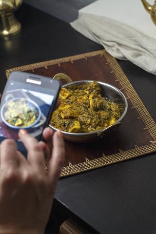 [indisch] Methi Paneer Pasanda - Paneer mit Bockshornklee