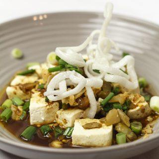 Suan la dou hua - sauer-scharfer Tofu