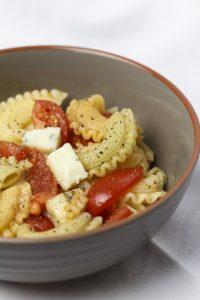 [vegetarisch] Pasta mit Tomaten und Gorgonzola