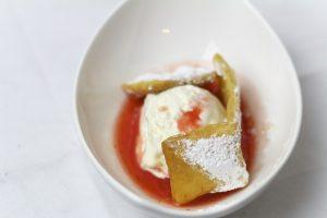 [Kochtreffen] Crostoli mit Cheesecake-Eis und Erdbeersauce