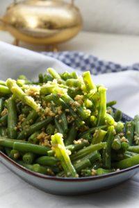 [chinesisch] Jiang Zhi Jiang Dou – grüne Bohnen in Ingwersauce