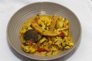 [indisch] Dahaiwale Aloo Gobi – Blumenkohl-Kartoffel-Curry mit Joghurt