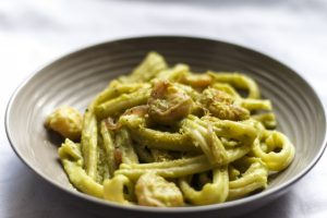 [Pasta] Nudeln in Zitronen-Avocado-Sauce mit Garnelen