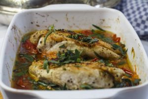 [aus dem Ofen] Hähnchen mit Tomaten und Estragon