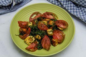 [indisch] Palak Paneer Tamatar – Käse in Spinatsauce mit Tomaten