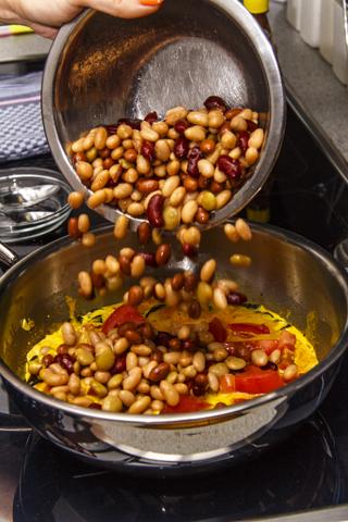 Buntes Bohnencurry