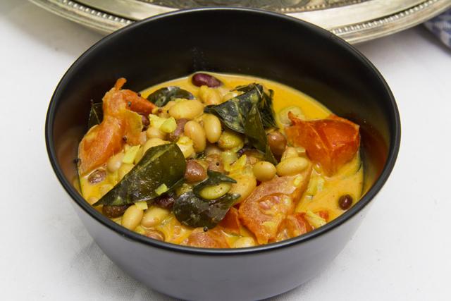 [indisch] Buntes Bohnencurry mit bebilderter Anleitung
