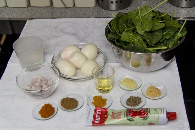 Eier-Spinat-Curry - Baida Palak Curry