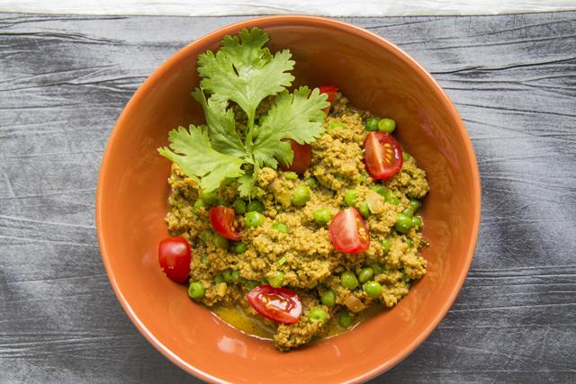 Keema Mattar - würziges Lammhack-Curry mit Erbsen