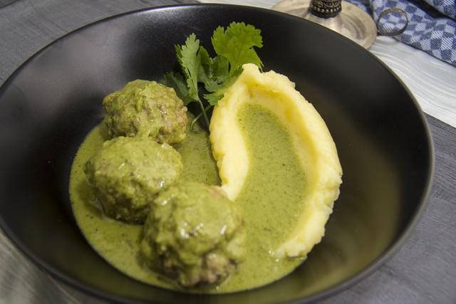 Kofta Hara Masala - grünes Fleischklösschencurry