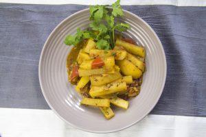 [nepalesisch] Gyanth Gobi – Kohlrabi-Kartoffelcurry