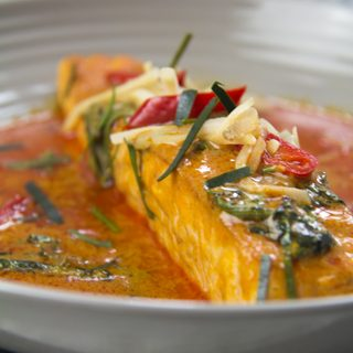 Chu Chi Pla Salmon - Lachs in rotem Curry