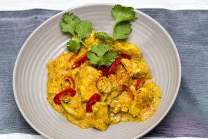 [indisch] Murgh Moongfali ke Sath – Hähnchen in süss-saurer Erdnusssauce