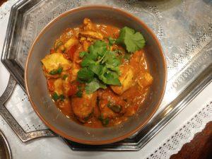 Kadhai Murgh – indische Hähnchenpfanne mit Tomate, Gewürzen und Koriandergrün, fein duftend und schnell gemacht